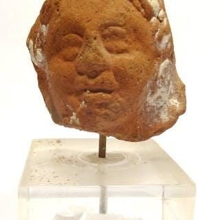 Égypte ancienne Terre cuite Tête romano-égyptienne en...
