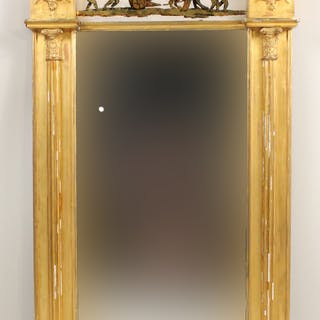 Regency Giltwood Mirror with Eglomise Panel