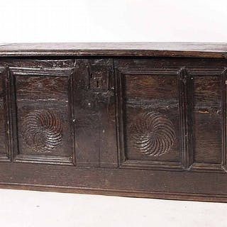 Jacobean Style Carved Oak Blanket Chest