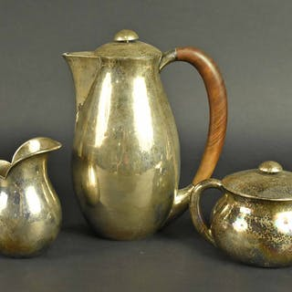 Danish Silver Three Piece Coffee Set