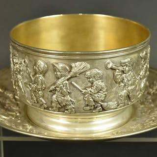 Tiffany & Co Sterling Silver Child's Bowl & Plate