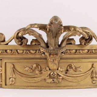 Louis XVI Style Giltwood Bed Crown