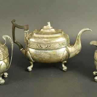 George Forbes Silver Three Piece Tea Set