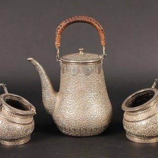 Indian Silver Three Piece Tea Service