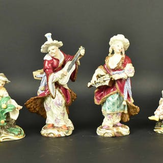 Two Pairs Meissen Porcelain Chinese Couples