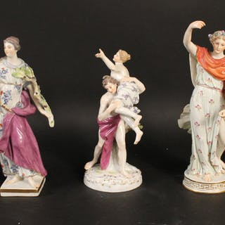 "Three Meissen Porcelain ""Grace""Figures"