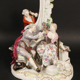 Meissen Figural Lovers Group