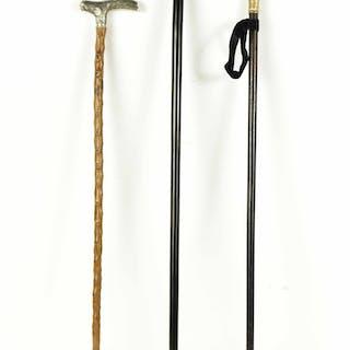 Three Gentlemen's Walking Sticks