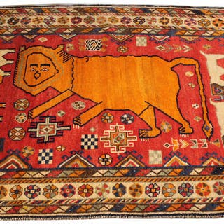 Qashqa'I Pictorial Rug