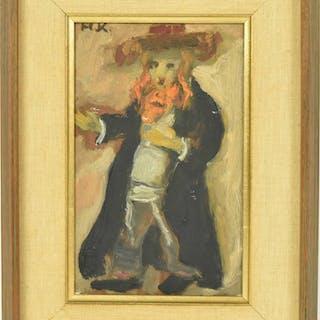 Oil on Canvas, Rabbi, Mane Katz