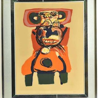 Print, Abstract Portrait, Karel Appel
