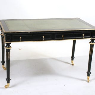 Napoleon III Style Ebonized Writing Desk