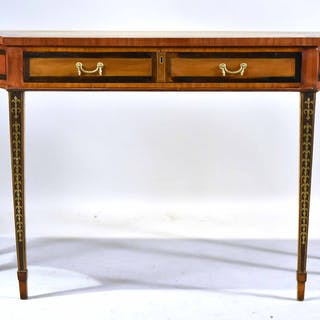 George III Brass-Inlaid Satinwood Console