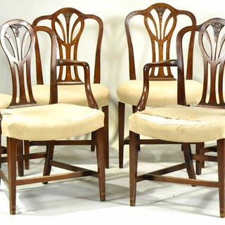 Six George III Mahogany Dining Chairs