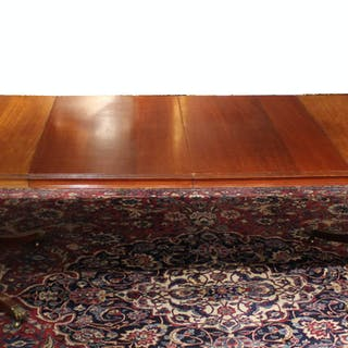 Federal Style Mahogany Two Pedestal Dining Table