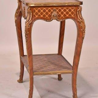 Louis XV Ormolu-Mounted Inlaid Side Table