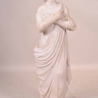 Carved Marble Figure of Woman