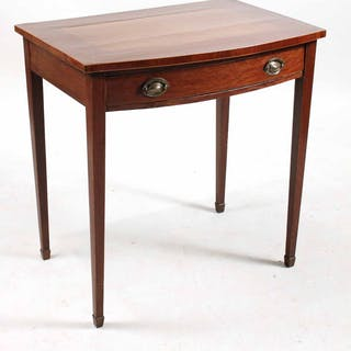 Federal Hepplewhite Mahogany Bowfront Table
