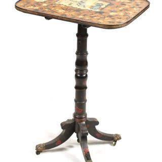 Chinese Export Regency Painted Tilt Top Table