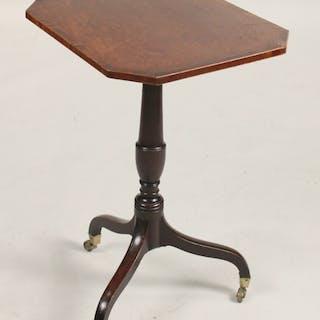 George III Mahogany Tripod Candlestand