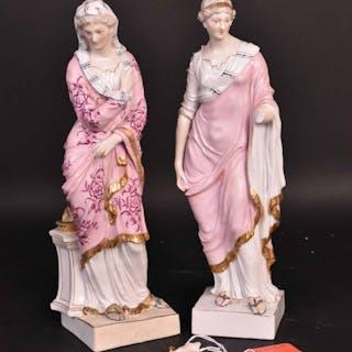 Pair of Meissen Porcelain Female Figures