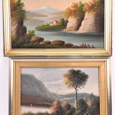 Two Oil on Canvas Landscape Paintings