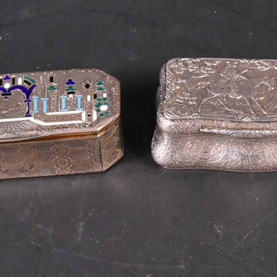 Three Continental Silver Hinged Boxes
