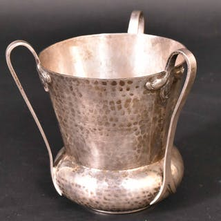 English Silver Three-Handled Cup