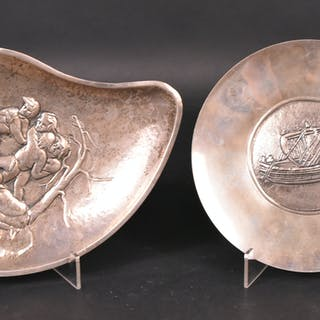 Finland Silver, Free Form Footed Dish