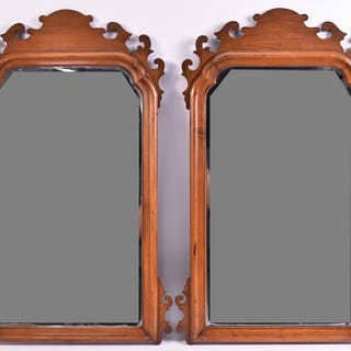 Pair of Chippendale Style Mahogany Mirrors