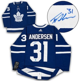 Frederik Andersen Toronto Maple Leafs Autographed Adidas Authentic