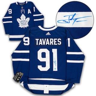 John Tavares Toronto Maple Leafs Autographed Adidas Authentic Hockey Jersey