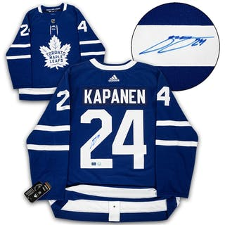 Kasperi Kapanen Toronto Maple Leafs Autographed Adidas Authentic Hockey Jersey