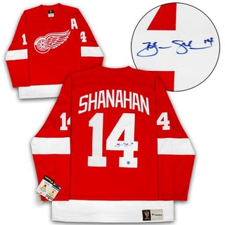 Brendan Shanahan Detroit Red Wings Autographed Fanatics Vintage Hockey Jersey