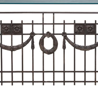 New Orleans Salvaged Cast Iron Balcony
