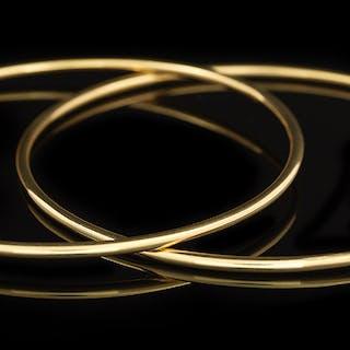 Two Gold Bangle Bracelets