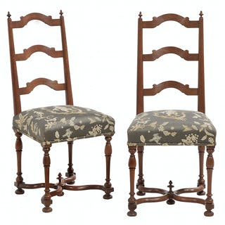 Pair of Provincial Louis XIII Walnut Chairs