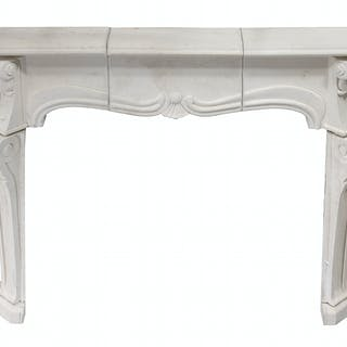 French Cast Stone Fireplace Surround