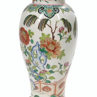 Continental Ormolu-Mounted Porcelain Vase