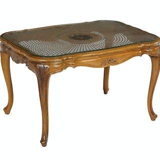 Louis XV-Style Mahogany Cocktail Table