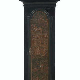 Queen Anne Chinoiserie-Decorated Tall Case Clock