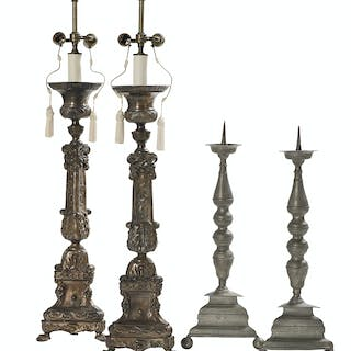 Two Pairs of Continental Candlesticks