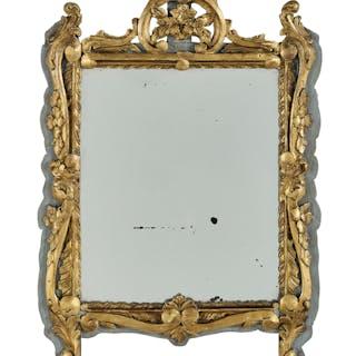 Louis XIV-Style Parcel-Gilt Mirror