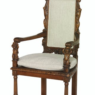 Continental Fruitwood Armchair