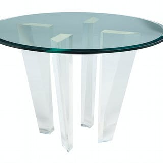Modern Glass and Lucite Table