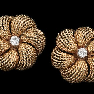 Pierre Sterle Diamond Ear Clips