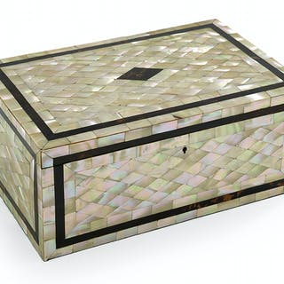 Victorian Mother-of-Pearl Marquetry Box