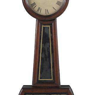 Carved Mahogany Banjo Clock