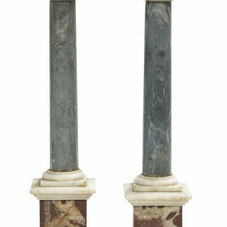 Pair of Marble and Bronze Grand Tour Souvenirs