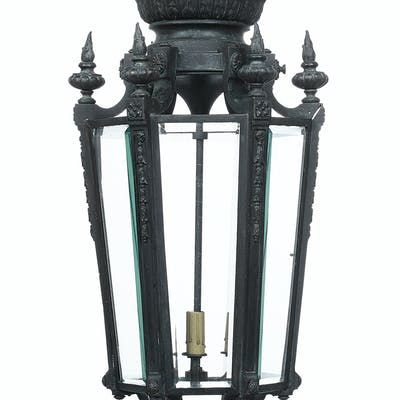 Continental Bronze Faceted Lantern